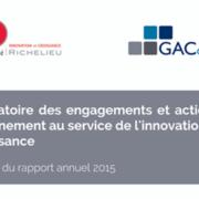 Rapport 2015 de l'Observatoire des actions du Gouvernement en faveur de l'innovation - GAC GROUP